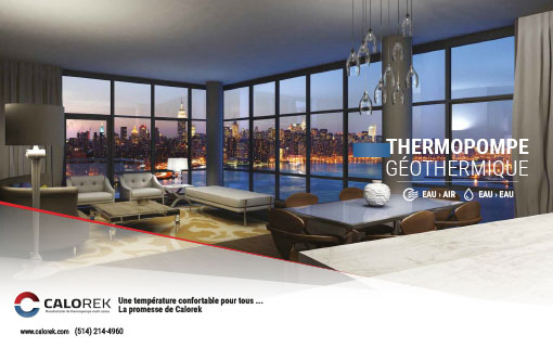 Brochure de la thermopompe géothermique eau-air