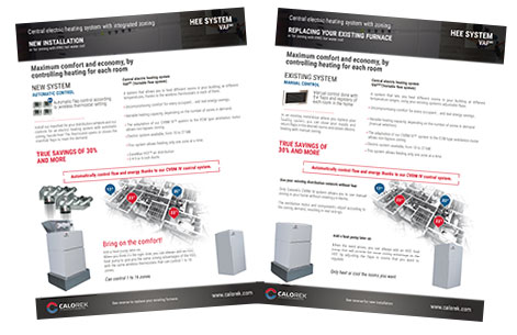 Calorek brochure for multizone central electric heating