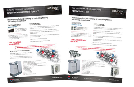 Brochure of the HOC heat pump, heating or multi-zone air conditioning